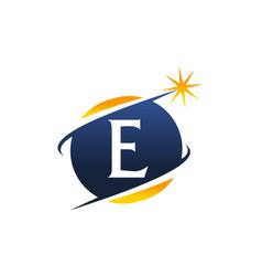 Swoosh logo letter e vector