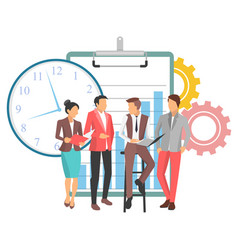 Teamwork team office workers managers people vector
