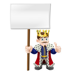 Thumbs up sign king vector