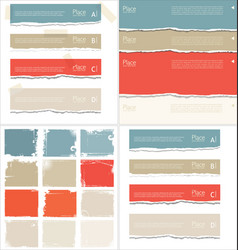 torn paper colorful collection vector image