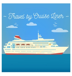 Travel Banner Tourism Industry Cruise Liner vector