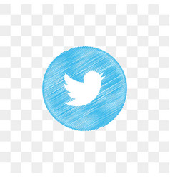 Twitter social media icon design template vector