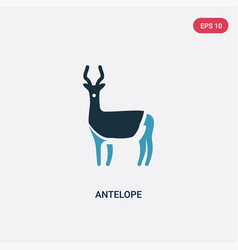 Two color antelope icon from animals concept vector