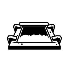 Vintage screen printing silkscreen concept vector