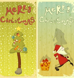 vintage set christmas card vector image