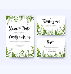 Wedding invite invitation menu rsvp thank you vector