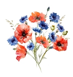 Wild flower bouquet vector