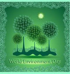 World green environment day background vector