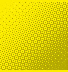 yellow retro comic book page background halftone vector image