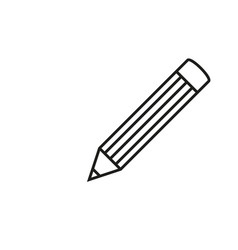 pencil school icon vector image