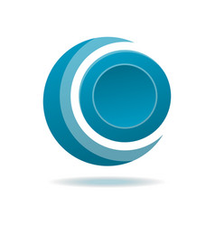circle blue abstract isolated element for logo vector image vector image