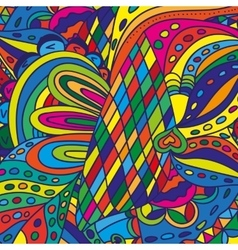 Color doodle background pattern vector image vector image