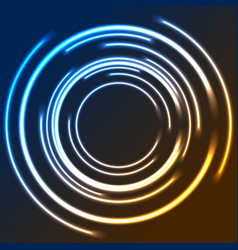 colorful neon glowing circles abstract logo design vector image