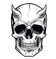 Demon Head Skull vector image vector image