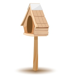 Oak Wood Small Old House vector image vector image