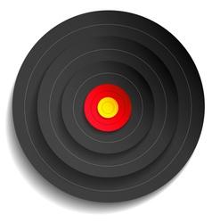 Target black vector image vector image