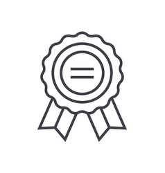award line icon sign on vector image