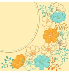 background with hand drawn stylish flowers vector image vector image