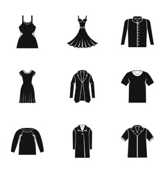 Clothing for body icons set simple style vector image vector image