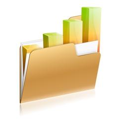Financial Folder Icon vector image vector image