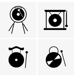 Gong vector image