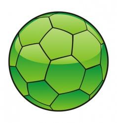 libya flag on soccer ball vector image vector image