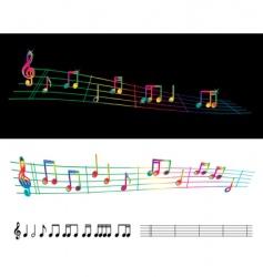 rainbow sheet music vector image
