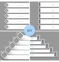 White design templates banners for infographics vector image vector image
