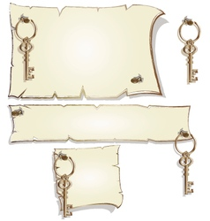 Empty frame with keys vector