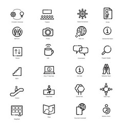 Event-business-icons vector