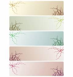 five variants of floral ornament vector image