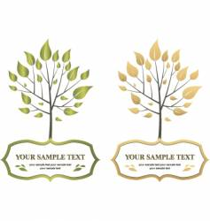 label trees vector image vector image