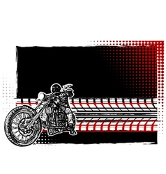 motorcycle poster vector image
