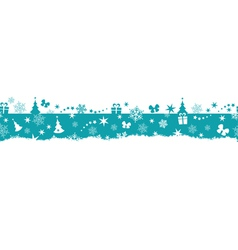 Seamless winter Christmas border vector image vector image