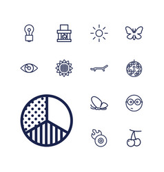 13 bright icons vector