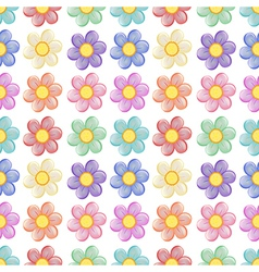 A seamless template with a floral design vector image