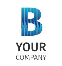 Abstract blue logo B vector image