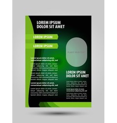 Abstract green flyer vector