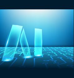 Ai network circuit symbols concept vector