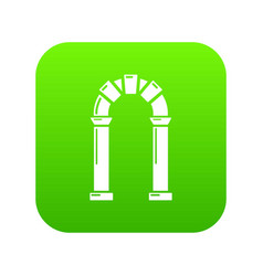 Archway ancient icon simple black style vector