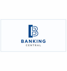 B negative squared space banking center logo vector