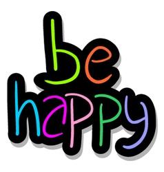 be happy symbol vector image