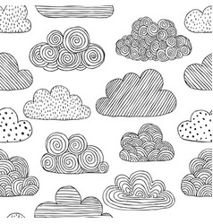 beautiful black and white seamless pattern of vector image
