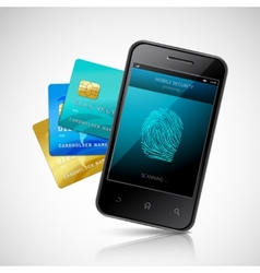 Biometric Mobile Payment vector