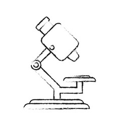 Blurred silhouette microscope science tool vector