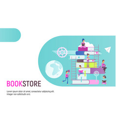bookstore advertising vector image