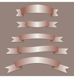 Bronze Ribbons Flags vector image