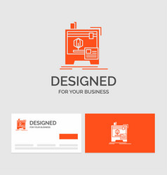 Business logo template for 3d dimensional machine vector