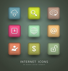 Buttons Internet Icons network collections vector