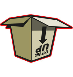 cardboard box packaging open vector image